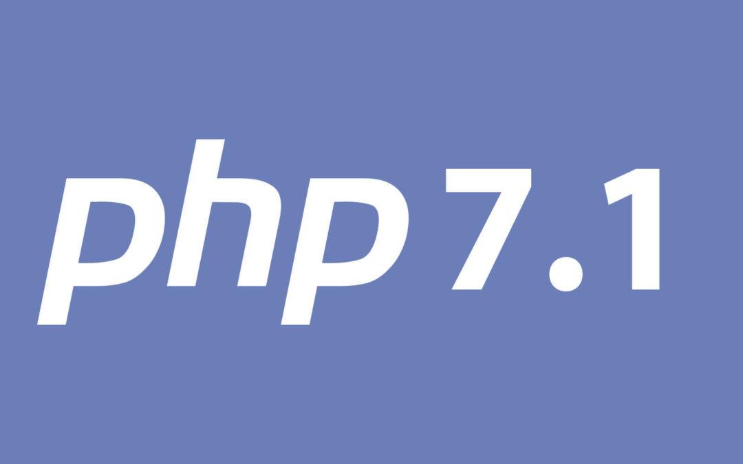 PHP 7.1 beschikbaar op het Linux platform