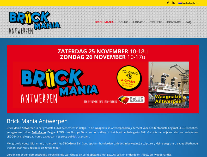 Brick Mania website