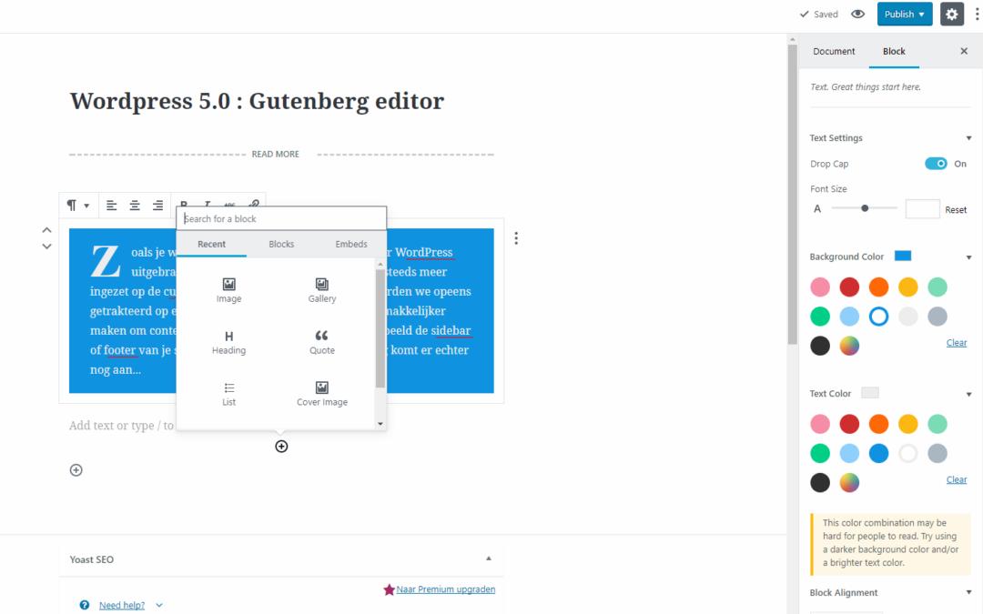 "WordPress 5.0 ""Bebo"" uitgebracht"
