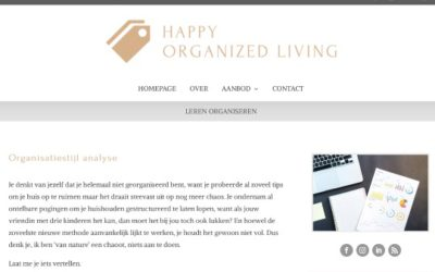 Website Happy Organized Living gelanceerd
