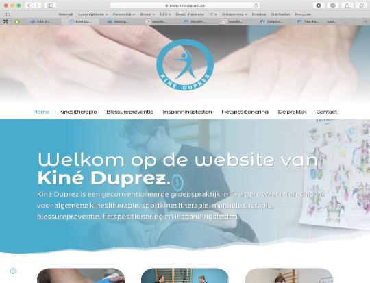 Nieuwe website voor Kiné Duprez