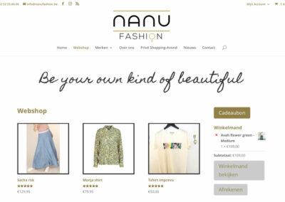 Nanu Fashion Webshop